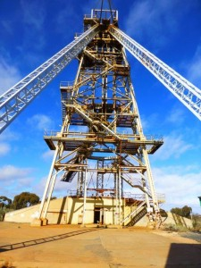 The historic Foster Head Frame